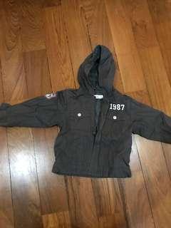 Charcoal grey jacket 12 to 18 M