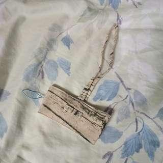 🚚 《手作布品》 文青風木紋環保杯袋