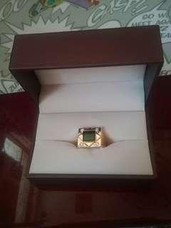 天然a玉 18k鑽石戒指21號圈口