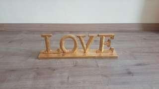 LOVE Table Decor Prop