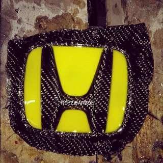 Emblem Honda original carbon fiber