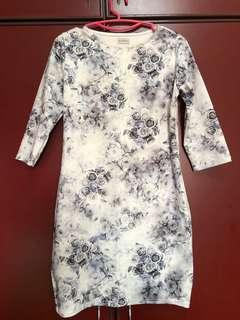 White/Silver Bodycon Dress