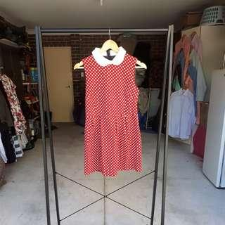 Vintage Red Polka Dot Dress