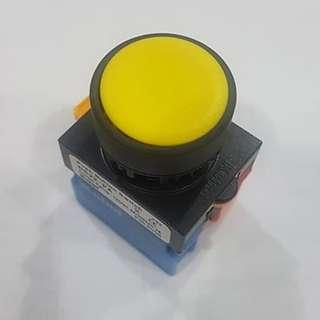 Yellow Push Button Switch for panel or machine IP66 Maintained