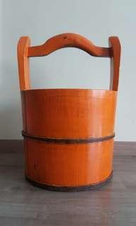 Orange Antique looking Bucket
