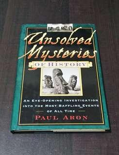 Unsolved Mysteries of History (re-listed, lower price)