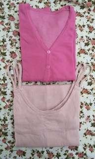 Atasan Overall (Free cardigan)