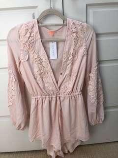 Love Is On- Blush Playsuit