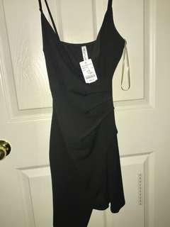 BNWT M Boutique Black Surplice Dress
