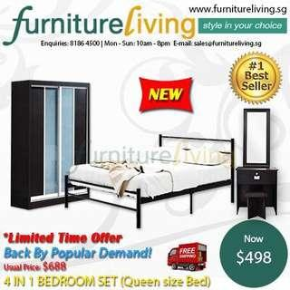 New 4 in 1 Bedroom Package Set for only $498