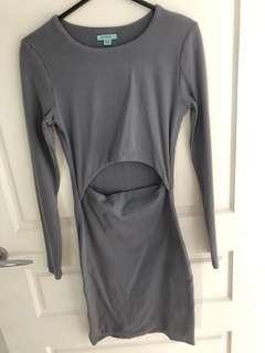 Kookai Grey Long Sleeve Dress