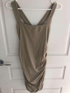 Kookai Nude Wrap Dress