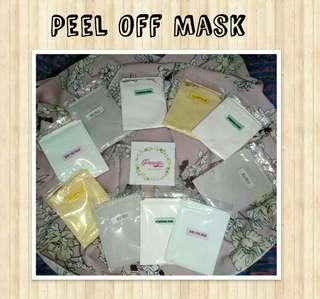 Peel off mask (masker kelupas skincare)