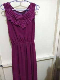 Occasional dress (eggplant color)