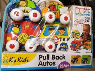 K's Kids Pull back Auto -- Pack of four