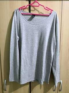 Oversized grey L/S tshirt (size S)