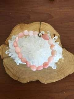 🚚 天然粉蛋白石 隨行珠
