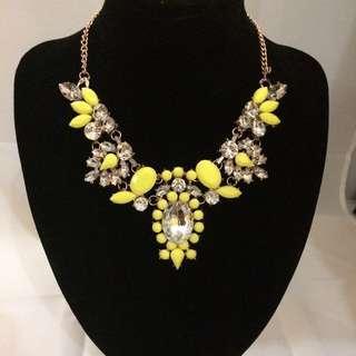 Brand New Luminous Yellow Necklace