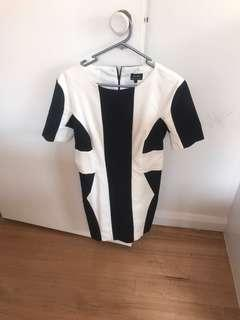 Bardot striped dress size 10