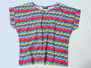 BNWNT Colorful Stripes Top