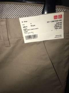 Uniqlo Women's Beige Chino Ankle Length Pants