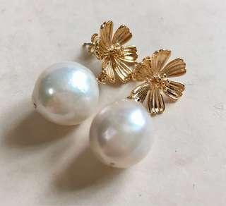 Pearl Earring Flower Kasumi Pearls 14k Gold Filled Studs