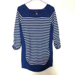 Blue Pullover Shirt Dress