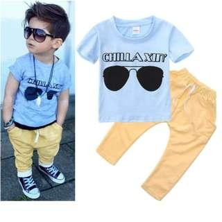 2PCs Boys Set (Pants and Tshirt)