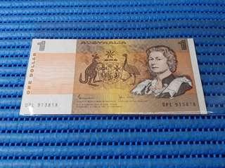 Australia $1 One Dollar Note DPL 913818 Nice Prosperity Number Dollar Dollar Banknote Currency