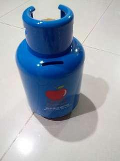 Coin bank gas cylinder