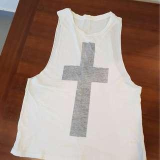 REVERSIBLE MUSCLE TEE WITH CROSS #EVERYTHING18