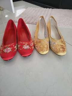 中式裙褂鞋