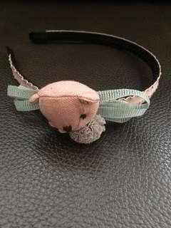🚚 [二手]韓版兒童髮飾品 女童寶寶小女孩髮飾 仙女氣質百搭髮箍 公主可愛頭箍(熊熊)