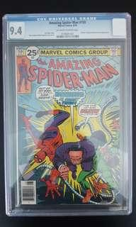 Amazing Spider-man #159 CGC 9.4 (1976 1st Series) Doctor Octopus Teams Up With Spidey Against Hammerhead! Bronze Age Collectible!