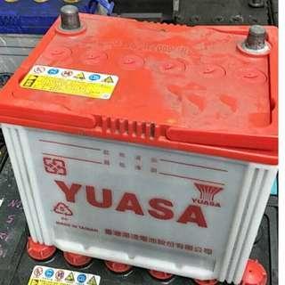 (二手中古電池) YUASA 80D23L-CMF 免保養汽車電池 數值漂亮,品項優