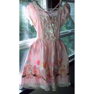 Official Bodyline bear ballon dress in pink (L367 OP)