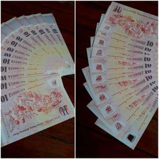 SG50 Notes - $10