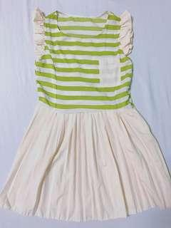 Green Stripes and Fleeted Dress