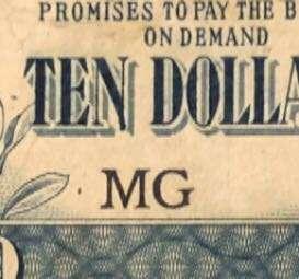 Malaya Japanese $10 Block MG
