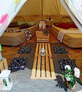 Wowcamp tent/glamping/party/birthday booking service  for 4 pax