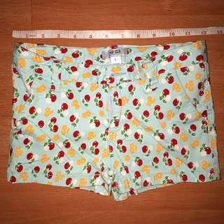 Printed Mint Shorts