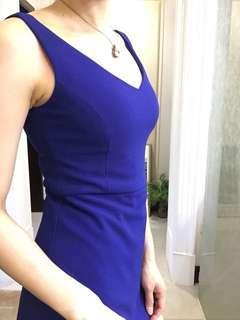 🚚 寶藍色修身褲裙