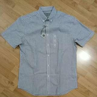 (Small) Marks And Spencer Short Sleeved Stripe Shirt