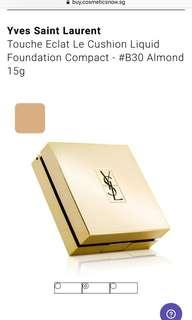 🚚 Yves Saint Laurent Touche Eclat Le Cushion Liquid Foundation Compact YSL - #B30 Almond 15g