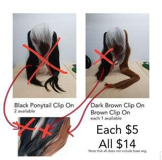 Various Clip On Extensions