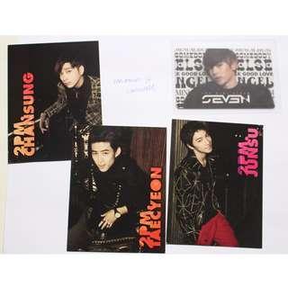 2PM Hands Up SE7EN 2nd Mini album Better Together photocards