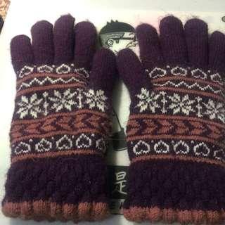 🚚 編織保暖手套(內刷兔毛)