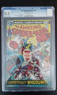 Amazing Spider-man #155 CGC 8.5 (1976 1st Series) Gorgeous Cover By John Romita! Bronze-Age Collectible!