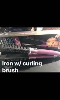 2 n 1 iron with curling ( 💯 original)
