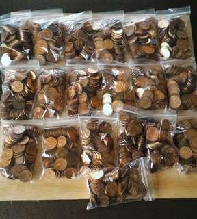 1 cent - Bunga Raya/Rebana~100 pieces